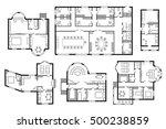 modern office architectural... | Shutterstock .eps vector #500238859