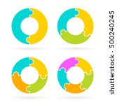 cycle diagram template set... | Shutterstock .eps vector #500240245