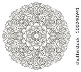 mandala. oriental coloring... | Shutterstock . vector #500240941