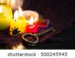 divination and pouring wax... | Shutterstock . vector #500245945