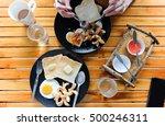 my girlfriend she is despoiled... | Shutterstock . vector #500246311
