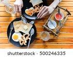 my girlfriend she is despoiled... | Shutterstock . vector #500246335