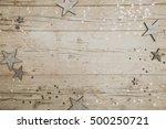 christmassy grey wood... | Shutterstock . vector #500250721