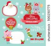 Big Set With Christmas Design...