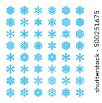 big set of different blue... | Shutterstock .eps vector #500251675