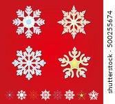 christmas snowflake | Shutterstock .eps vector #500255674