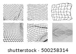 six different net patterns.... | Shutterstock .eps vector #500258314
