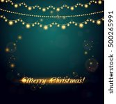 christmas abstract background...   Shutterstock .eps vector #500265991