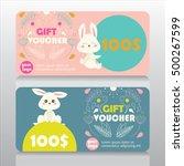 baby goods or kids store gift... | Shutterstock .eps vector #500267599
