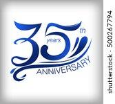 35 years anniversary template... | Shutterstock .eps vector #500267794