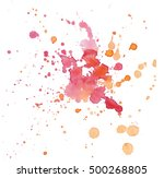 Watercolor Red Orange Blots...