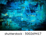 hand drawn oil painting.... | Shutterstock . vector #500269417