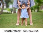 adorable little girl making... | Shutterstock . vector #500269855