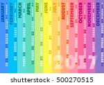 colored striped calendar 2017.... | Shutterstock .eps vector #500270515