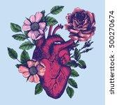 Blooming Anatomical Human Heart....