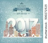 2017. vector illustration.... | Shutterstock .eps vector #500272525