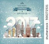2017. vector illustration.... | Shutterstock .eps vector #500272531
