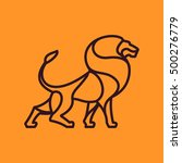 lion vector line character.... | Shutterstock .eps vector #500276779