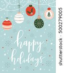 christmas greeting card with... | Shutterstock .eps vector #500279005