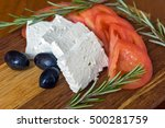 fresh salad with tomatoes  feta ...   Shutterstock . vector #500281759