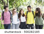 diverse group young people... | Shutterstock . vector #500282185