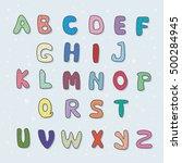 vector alphabet of arbitrary... | Shutterstock .eps vector #500284945