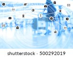 data management system internet ... | Shutterstock . vector #500292019