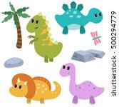 set of different cartoon... | Shutterstock .eps vector #500294779