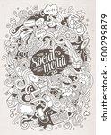 cartoon cute doodles hand drawn ... | Shutterstock .eps vector #500299879