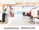 abstract blur luxury department ... | Shutterstock . vector #500301145