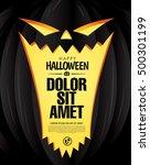 happy halloween poster. vector... | Shutterstock .eps vector #500301199