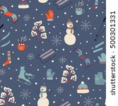 vector seamless pattern ... | Shutterstock .eps vector #500301331