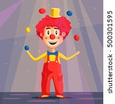 happy circus clown. cartoon...