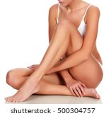 young woman with slim body ... | Shutterstock . vector #500304757
