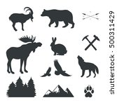 vector set of animals wild... | Shutterstock .eps vector #500311429
