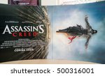 Small photo of PUTRAJAYA, MALAYSIA - OCT 15, 2016 : Assassin's Creed movie poster; is a action adventure film based on the video game franchise of the same name starring Michael Fassbender