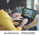study education e learning... | Shutterstock . vector #500316085
