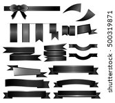 black ribbons set isolated on...   Shutterstock .eps vector #500319871