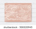 abstract floral doodles design... | Shutterstock .eps vector #500320945