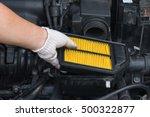 technician is changing new air... | Shutterstock . vector #500322877