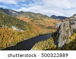 Small photo of Lower Ausable Lake and Adirondack Mountains