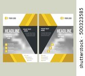 business brochure flyer design... | Shutterstock .eps vector #500323585