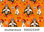 seamless pattern with mexican... | Shutterstock .eps vector #500325349