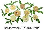 lime background. fresh limes... | Shutterstock . vector #500328985