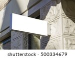 signboard. mock up. old town | Shutterstock . vector #500334679