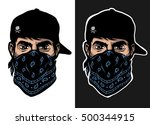 a guy in a baseball cap and...   Shutterstock .eps vector #500344915