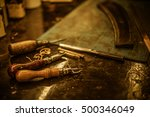close up blacksmith tools for... | Shutterstock . vector #500346049