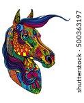 portrait of horse in different... | Shutterstock .eps vector #500363197