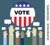 presidential election day... | Shutterstock .eps vector #500364841
