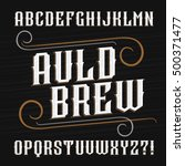 vintage alphabet font. ornate... | Shutterstock .eps vector #500371477